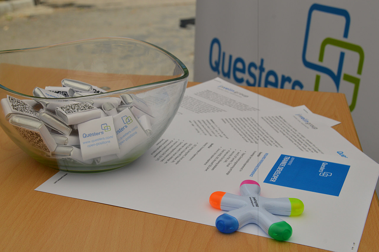 Questers and Javelin Group at Career Days in FMI Sofia