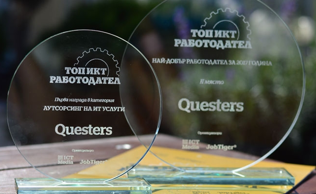 Questers recognized as Top ICT Employer 2017 - Questers